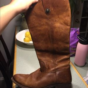 Tall button Frye boots